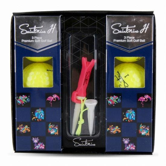 세인트나인 H 골프공(컬러공, 6개+골프티)