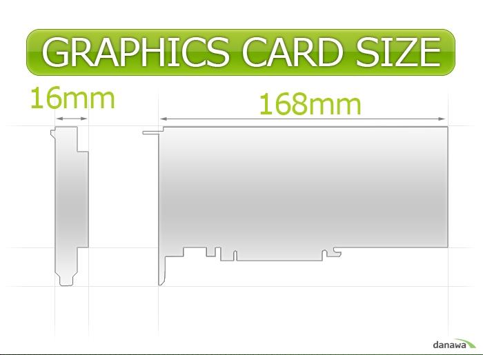 GIGABYTE 지포스 G210 D3 1GB Silent 0dB 제품 사이즈