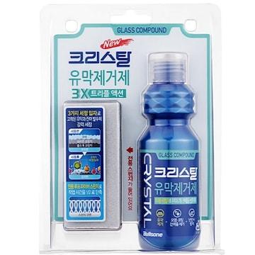 불스원 크리스탈 유막제거제 3X 트리플 액션 140ml