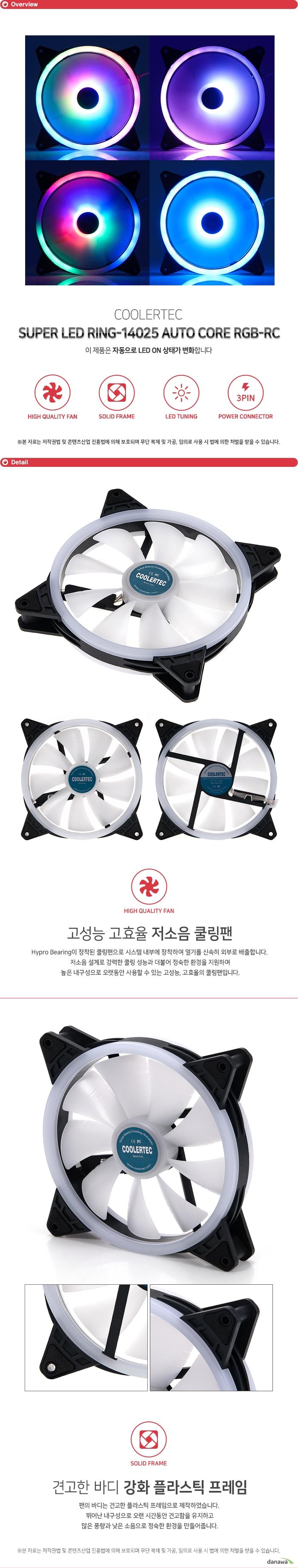 COOLERTEC SUPER LED RING-14025 AUTO CORE RGB-R/C