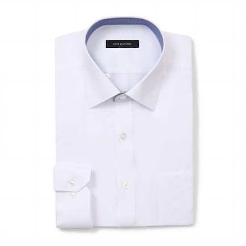 루이까또즈  카라배색 화이트솔리드 비지니스 셔츠 L7C051_이미지
