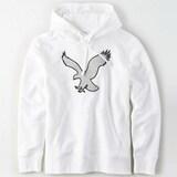 아메리칸이글 코튼 로고 긴소매 후드 티셔츠 AE1J7TKJ9950N 101