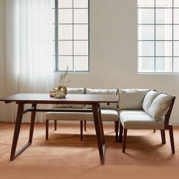 마루이 킨포크 리빙다이닝 원목 식탁세트 1400(의자1개+벤치2개)
