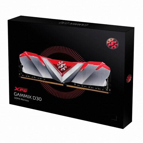 ADATA XPG DDR4 8G PC4-24000 CL16 GAMMIX D30 레드_이미지