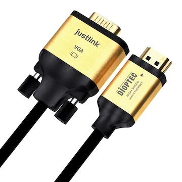 디옵텍 justlink HDMI to VGA 변환 케이블 (JUSTLINK-HDRC018, 1.8m)_이미지