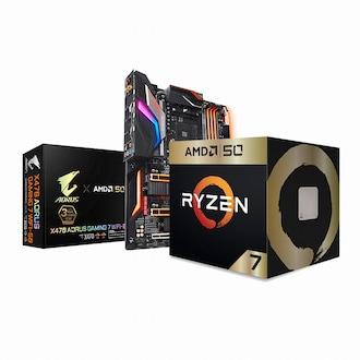 AMD 라이젠7-2세대 2700X GOLD EDITION + X470 패키지 (정품)_이미지