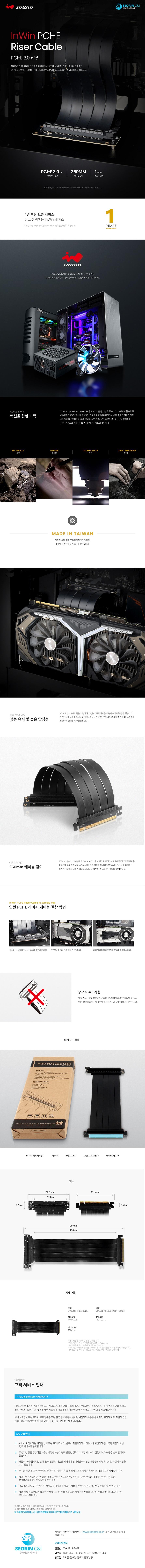 IN WIN  PCI-E Riser Cable