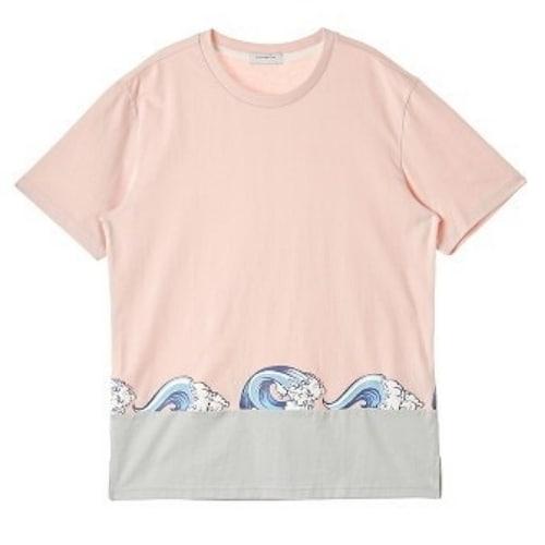 코오롱인더스트리 커스텀멜로우 wave embroidery t-shirts CWTAM16555PIX_이미지