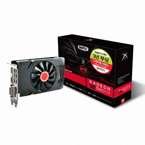 XFX  라데온 RX 560 14CU 블랙울프 OC D5 4GB_이미지