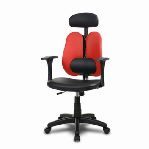체어클럽 요추플러스i5-2 헤더형 사무용 의자 (인조가죽등판)_이미지