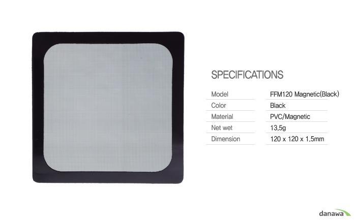 COOLERTEC FFM 120 Magnetic (BLACK) 제품 정측면 이미지 및 커넥터 확대 이미지