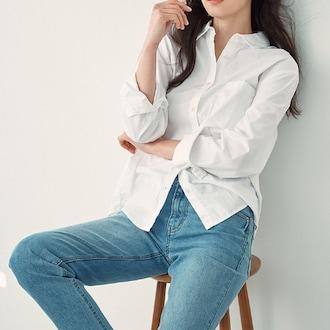 지오다노 포플린 셔츠 05340501_이미지