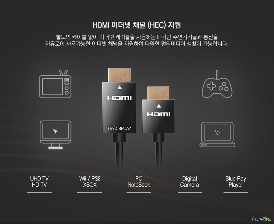 HDMI 이더넷 채널 지원