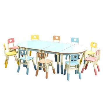 채우리  높이조절형 러블리 10인세트 (책상4+의자10) HSS018