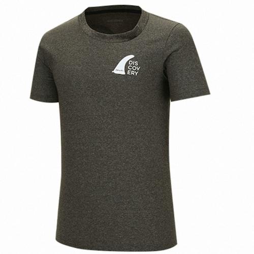 디스커버리익스페디션  등판 로고플레이 포인트 티셔츠 (DMRT6Q731-BK, 블랙)_이미지