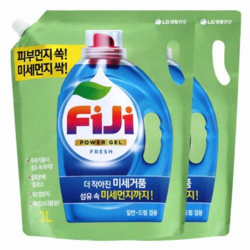 피지(FiJi) 파워젤 프레쉬 세탁세제 리필 2L (2개)_이미지