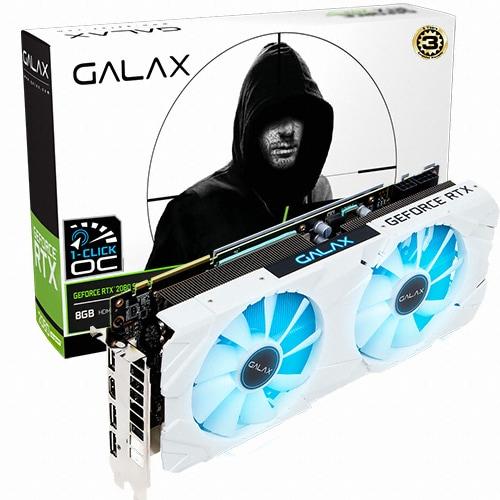 갤럭시 GALAX 지포스 RTX 2080 SUPER EX WHITE OC D6 8GB_이미지