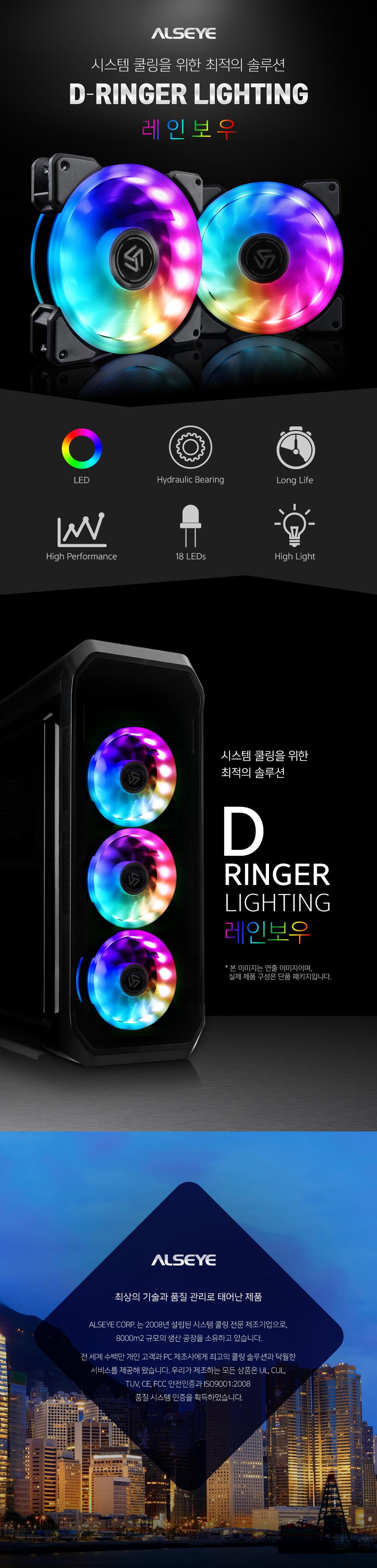 ALSEYE  D-Ringer LIGHTING 레인보우