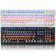 COX CK777 V광축 완전방수 교체축 사이드 RGB 게이밍 (블랙, 클릭)_이미지