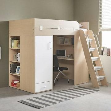 e스마트 하우스 독서실책상 LED벙커침대(솜매트)