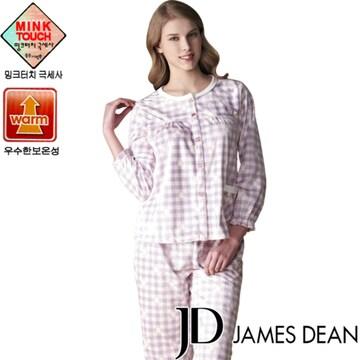좋은사람들 제임스딘 극세사 겨울 여성 수면 잠옷세트 DDWNQ811