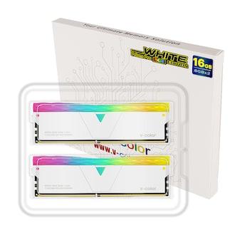 V-Color DDR4-3600 CL18 PRISM PRO RGB WHITE 패키지 (16GB(8Gx2))_이미지