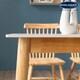 잉글랜더 프레스토 원목 통세라믹 식탁세트 800 (의자2개)_이미지