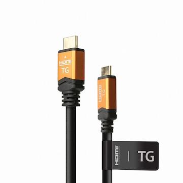 TG삼보 TGS HDMI to Mini HDMI Ver2.0 무산소동 프리미엄 골드 케이블 (1.2m)_이미지