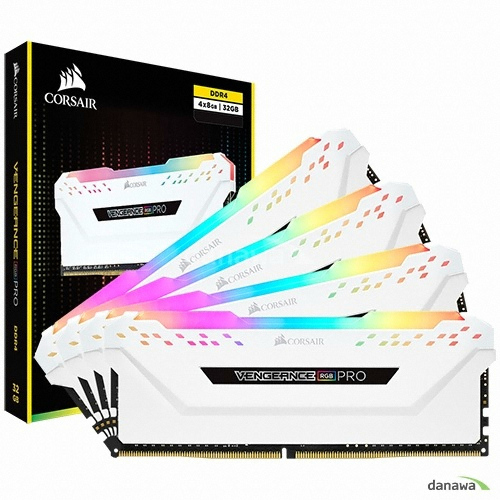 CORSAIR DDR4 64G PC4-25600 CL16 VENGEANCE PRO RGB WHITE (8Gx8)