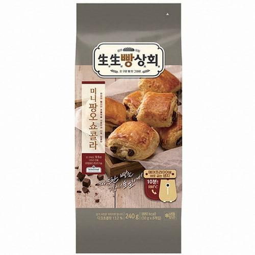 롯데제과 생생빵상회 미니 팡오쇼콜라 8개입 240g (1개)_이미지