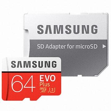 삼성전자  micro SDXC CLASS10 UHS-I U3 EVO Plus 100MB/s (64GB+어댑터)