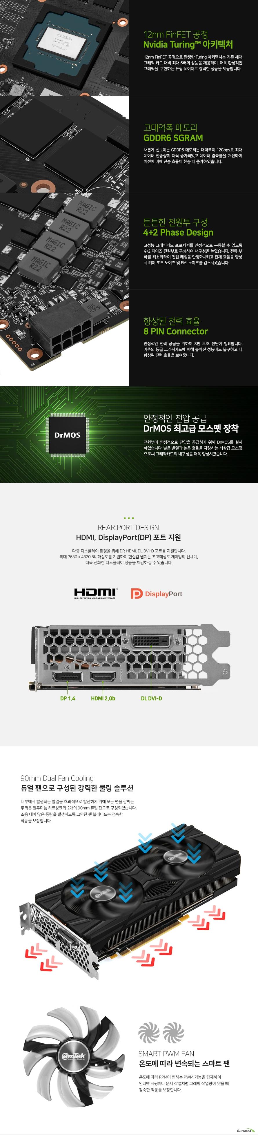 이엠텍  지포스 GTX 1660 Ti STORM X Dual D6 6GB
