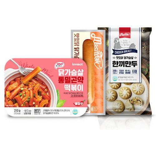 푸드나무 맛있닭 닭가슴살 떡소만 분식세트 3종류 4팩 (1개)_이미지