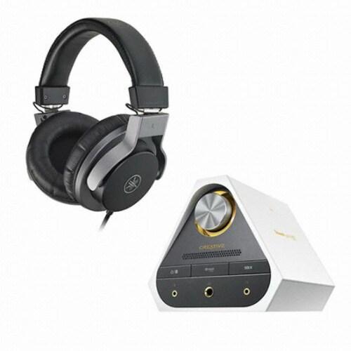 야마하 HPH-MT7 + Creative SoundBlaster X7 LE 앰프 (정품)_이미지
