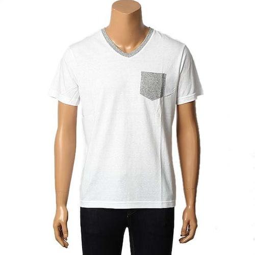 뱅뱅어패럴 헨어스 남여공용 포켓 브이넥 티셔츠 HTA483_이미지