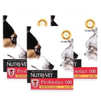 뉴트리벳 유산균 프로바이오틱스 100 60g (2g x 30P) (3개)_이미지