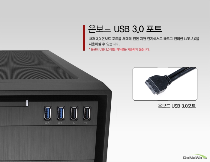 온보드 USB 3.0 포트를 가진 CORSAIR OBEDIAN 750D