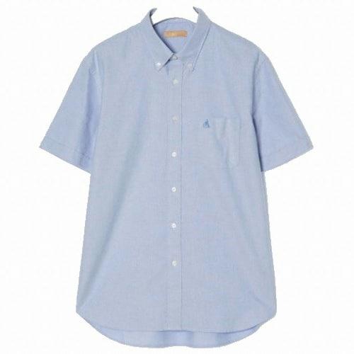 빈폴 스카이 블루 옥스포드 반소매 셔츠 BC0365N03Q_이미지