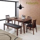 올펀 핀란디아 빌포드 식탁세트 6인용 (의자4개+벤치1개)_이미지
