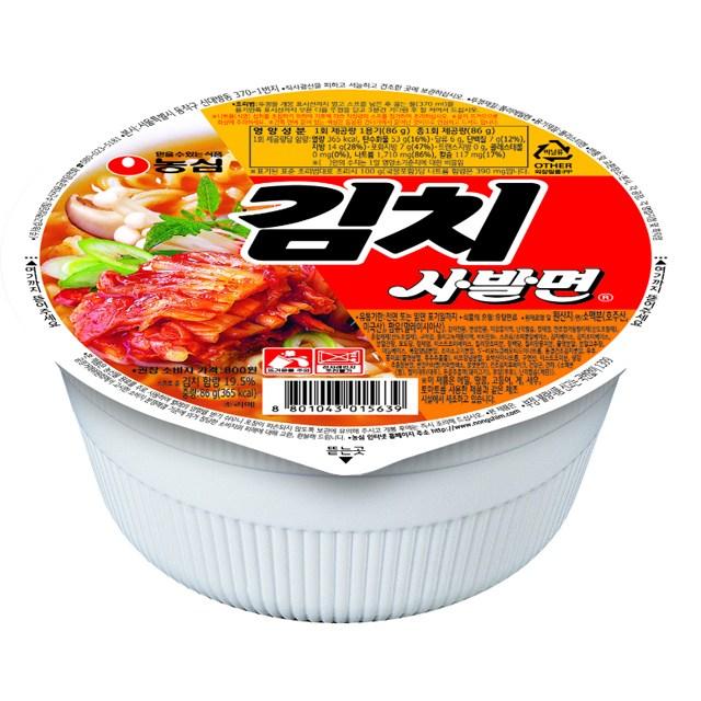 농심 김치 사발면 86g(1개)