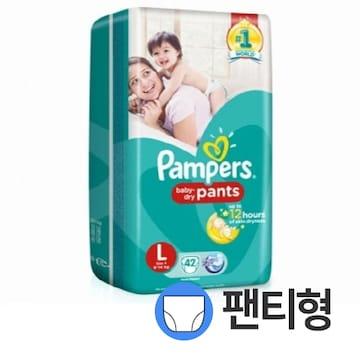 팸퍼스  베이비 드라이 팬티 4단계 공용 (168매)