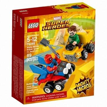 레고 마블 슈퍼히어로 스칼렛 스파이더맨 대 샌드맨 (76089) (정품)