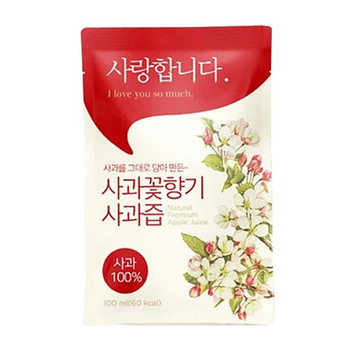 아침햇살영농조합법인 사과꽃향기 사과즙 100ml 100포(1개)