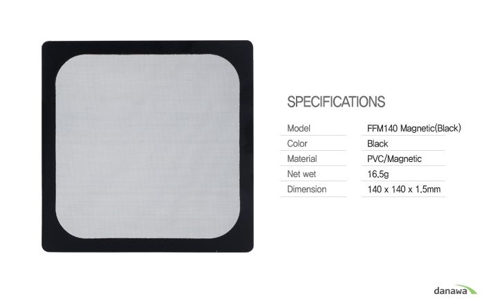 COOLERTEC FFM 140 Magnetic (BLACK) 제품 정측면 이미지 및 커넥터 확대 이미지