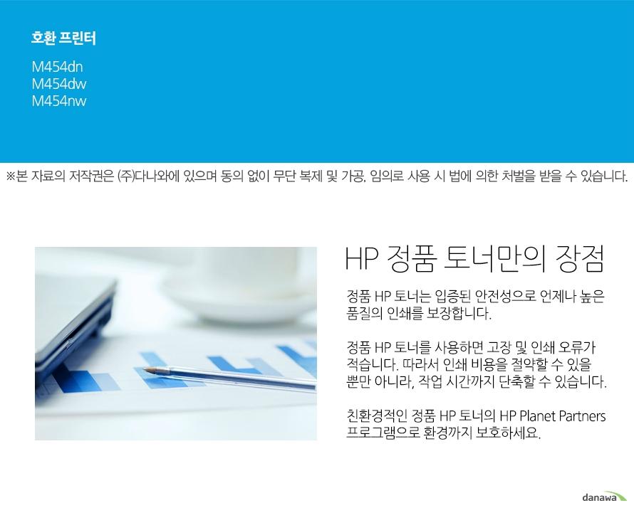 HP 정품 416A (W2041A) 파랑