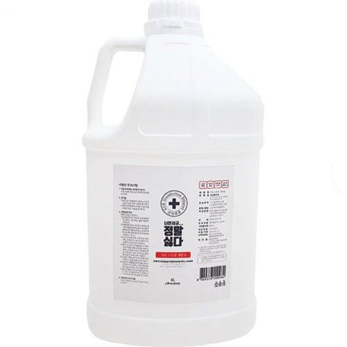 정말싫다세균 소독용 에탄올 4L (1개)_이미지