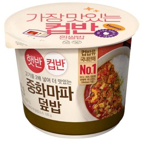 CJ제일제당 햇반 컵반 중화마파두부덮밥 270g (9개)_이미지