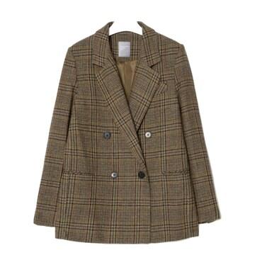 에잇세컨즈 글렌 체크 더블 재킷