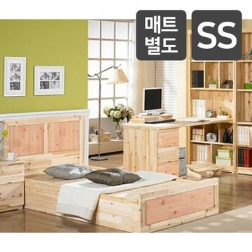 삼일가구 리피트리 시즈카 삼나무원목 책상 패키지+침대 SS (매트별도)