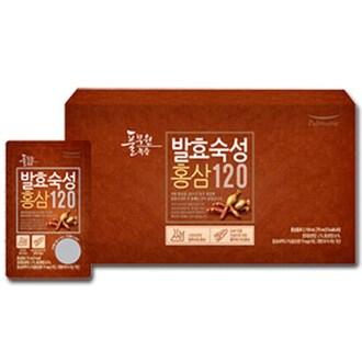 풀무원건강생활 풀무원녹즙 발효숙성 홍삼120 70ml 30포 (1개)_이미지